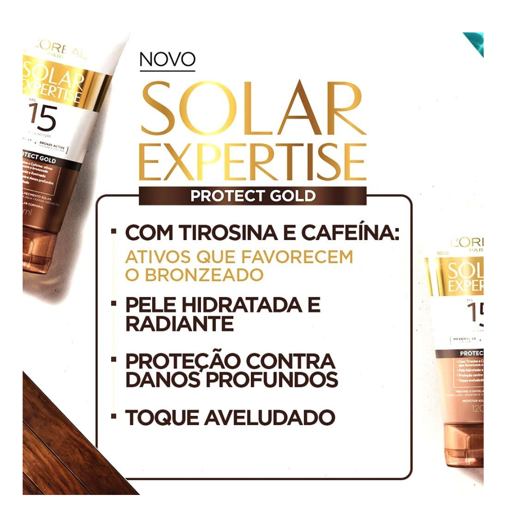 PROTETOR SOLAR LOREAL PROTECT GOLD  FPS 15 120 ML