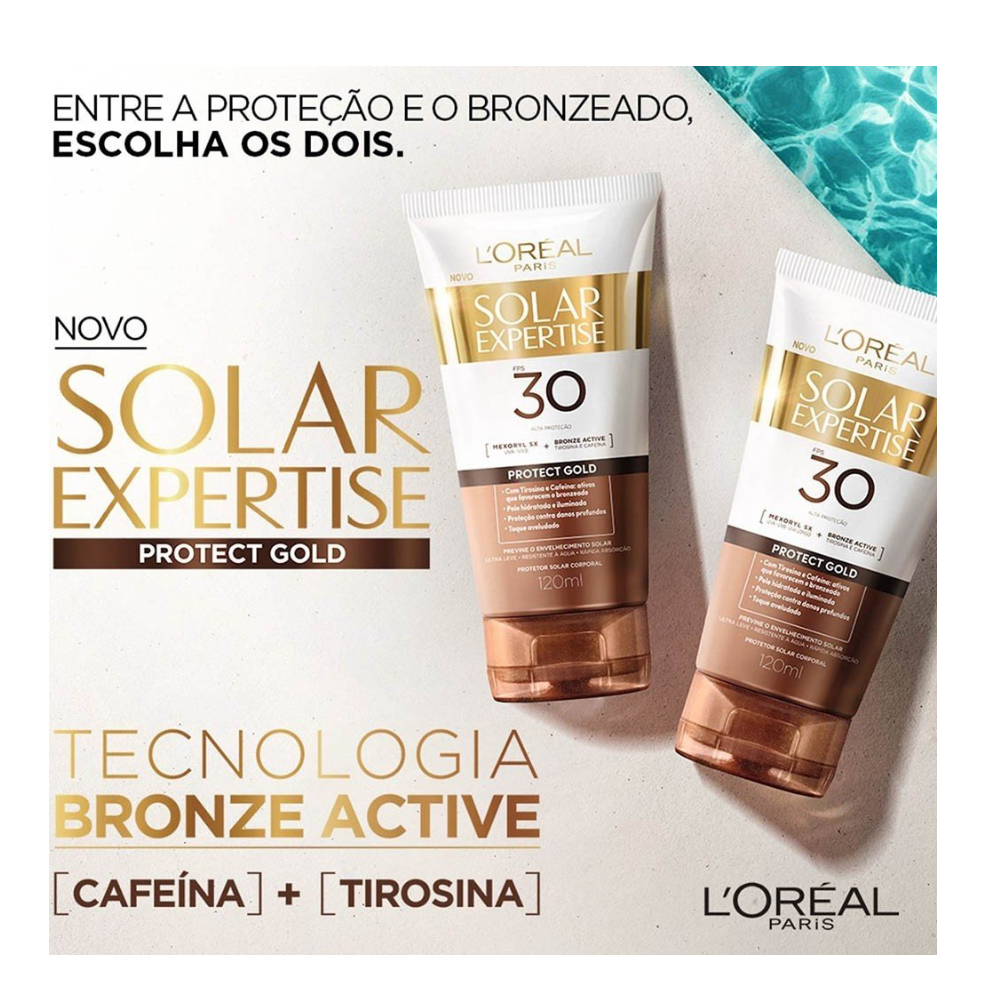 PROTETOR SOLAR LOREAL PROTECT GOLD FPS 30 120 ML