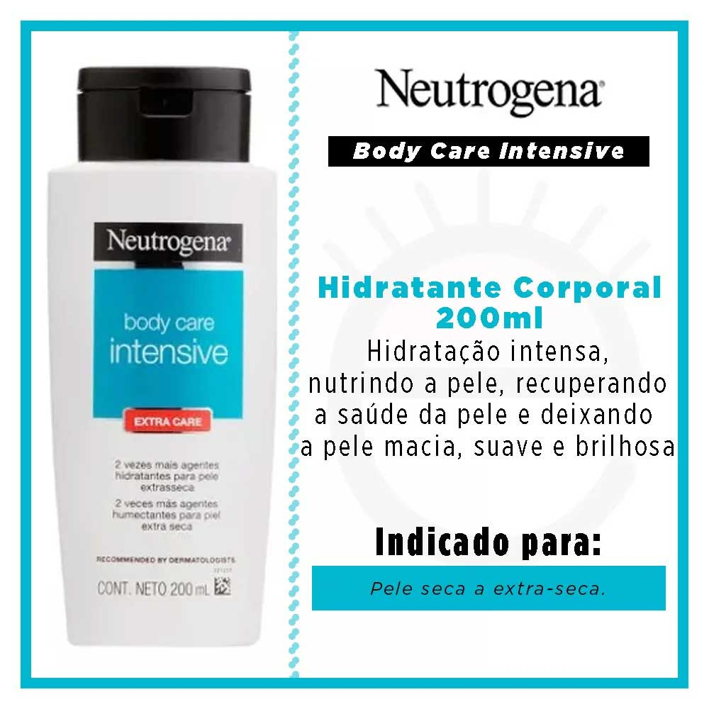 NEUTROGENA BODY CARE INTENSIVE PELE EXTRA SECA 200ML