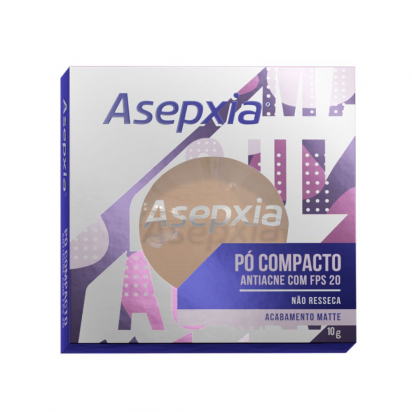 PÓ COMPACTO ASEPXIA BEGE CLARO ANTIACNE FPS20 COM 10G